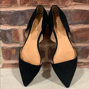Brand New Halogen Black Suede Flats Size 10